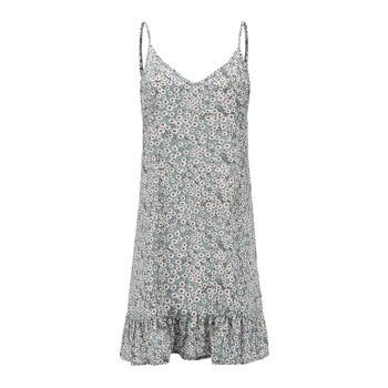 Summer Women Floral Print Loose Retro Party Evening Beach Short Mini Dress Holiday Sundress Spaghetti Strap Plus Size 5