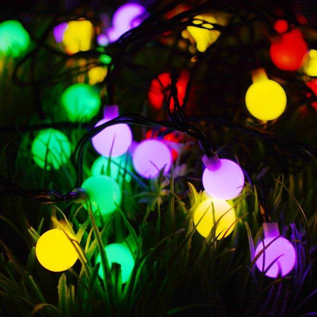 Solar Globe Garden Multicolor Lights