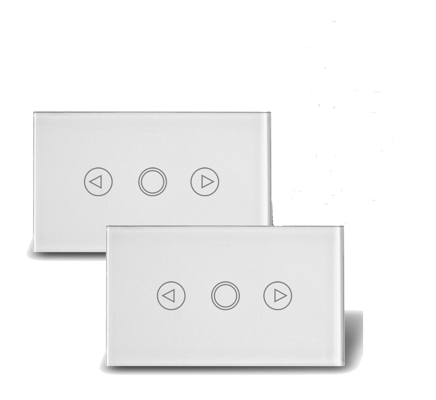 US LED 2way Touch screen Dimmer switch/Smart home Remote Control Double switches wall dimmer light Glass panel switch hot smart home white crystal glass panel 1 circuit us plug light touch and remote control screen switch with led indicator