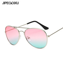b0607cb937f7 JIPEMIXU Children Pilot Metal Sunglasses Boy Girl Brand Designer Ocean Lens Sun  Glasses Fashion Traveling Eyewear