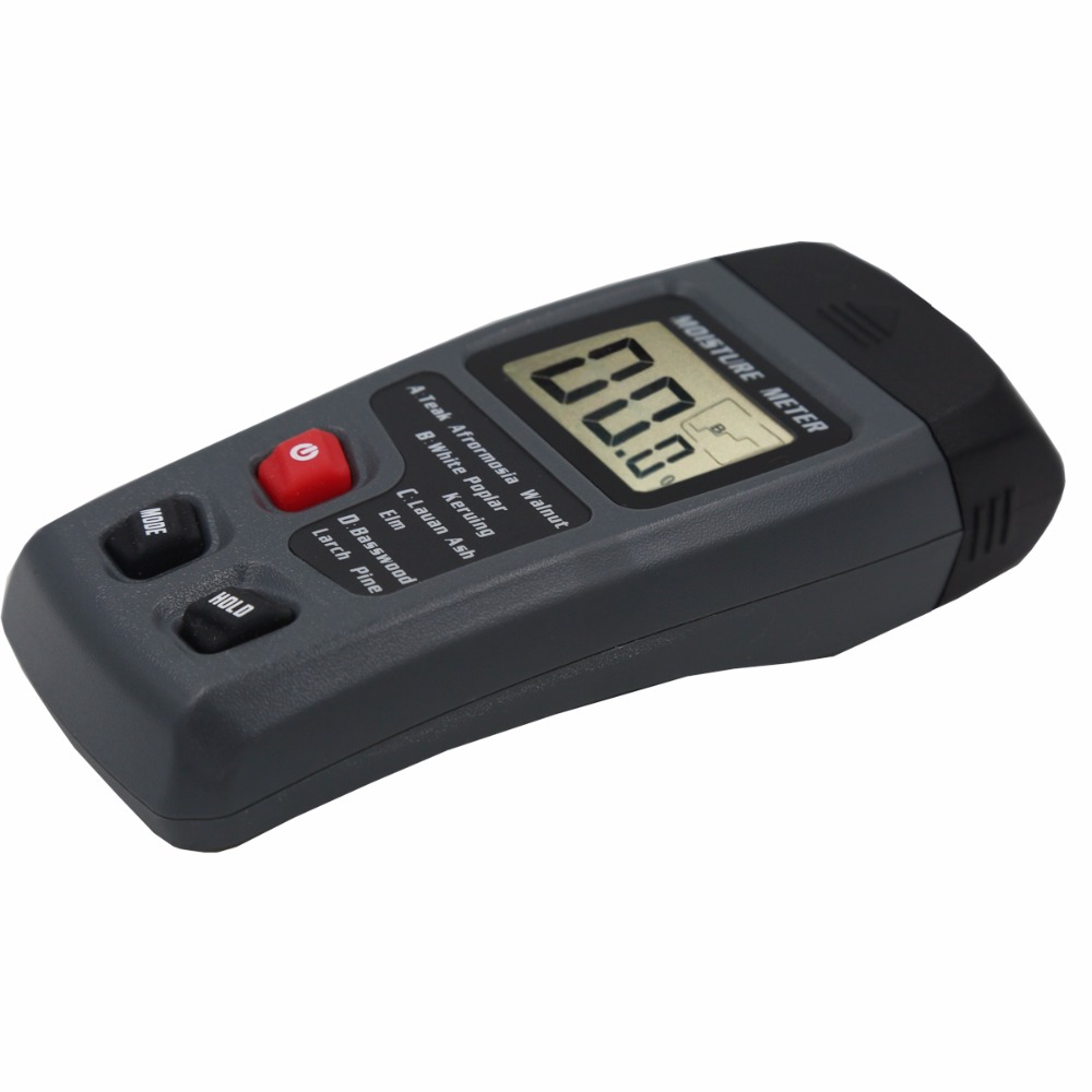 MT10 Two Pins Digital Wood Moisture Meter 0-99.9% Wood Humidity Tester Timber Damp Detector with Large LCD Display 40%Off