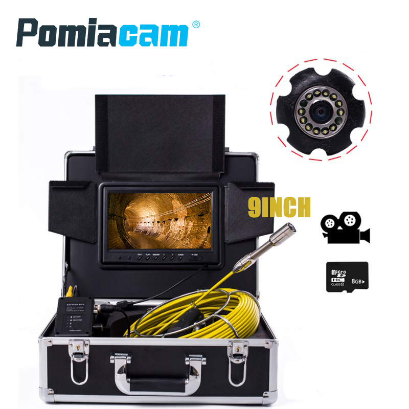 WP90 30M New Pipeline detector industrial endoscope Locate Underground Pipelines Sewer Inspection Camera maintenance