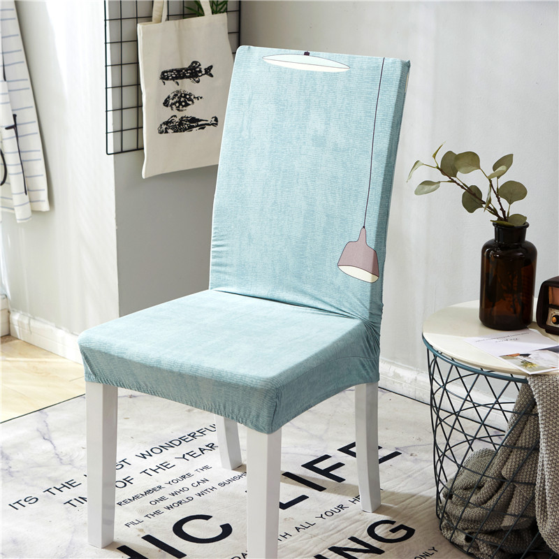 2pc/lot Dining Room Chair Cover Stretch Spandex Polyester Seat Cover Removable Anti-dirty Chair Protective Cover Hotel
