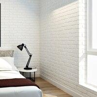 10 M Hiện Đại 3D Gạch Trắng Không Dệt Dày Nổi phủ Tường Wall Paper Cuộn Nền Bức Tường phòng Khách phòng Ngủ hình nền