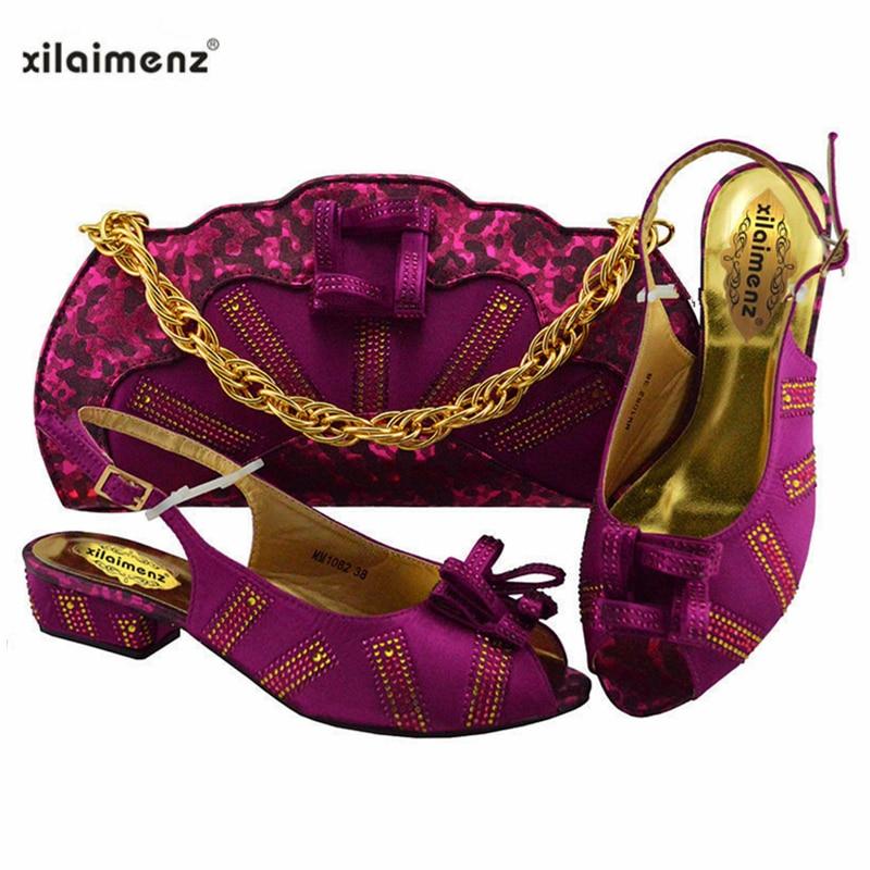 1032a6aea14f74 Partie Dark gold Sac pink Ensemble Nigérian 2019 Mariage Assortir Green À  Sacs De Et dark S Chaussure Blue La Africain Femmes ...