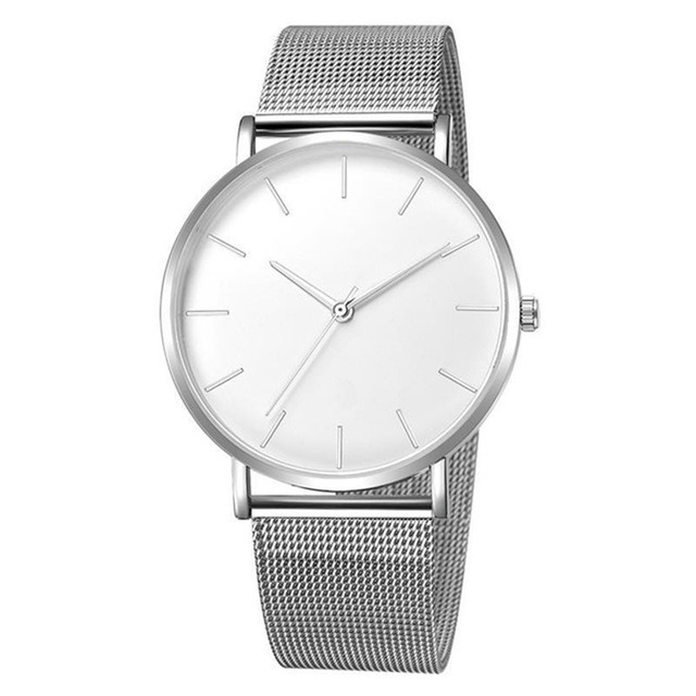2019 Women Watches Mesh Band Stainless Steel Analog Quartz Wristwatch Minimalist Ladies Business watch Luxury Black reloj mujer 1
