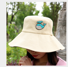 High quality hand embroidery badges for backpack Cute whale badge High-end clothes, hats badges