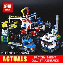 Nova LEPIN 15014 1858 pcs Blocos de Construção Modelo de parque de Diversões Do carnaval Conjunto Compatível CRIADOR 10244 Arquitetura brinquedos presentes