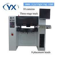 SMT Pick and Place Machine with 80pcs Feeders , Led Manufacturer with Original Servomotor