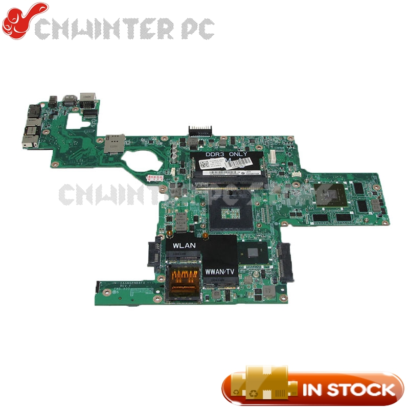 NOKOTION DAGM6BMB8F0 CN-0C9RHD 0C9RHD For Dell XPS 15 L501X Laptop motherboard HM57 DDR3 GT420M Video Card cn 0pu073 for dell xps m1330 0pu073 laptop motherboard with g86 631 a2 upgrated graphic card