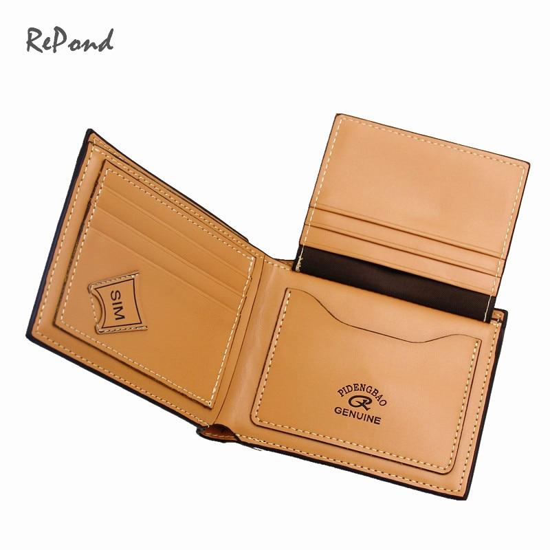 couro cor marrom wallet_brand