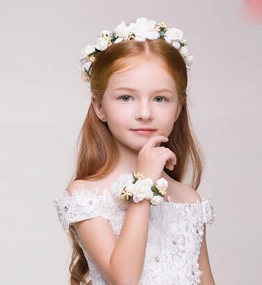 Flower Headpiece Wedding Flower Girl Hair Accessories Floral Crown Bohemia  Halo Flower Crown Artifical Children Hair Accessories 8c99724891b