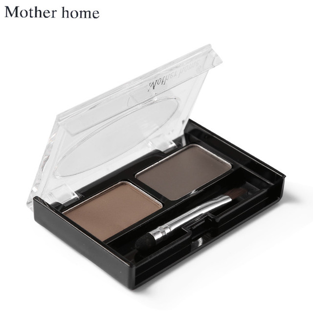 Mother Home Eye Brow Dye Makeup 2 Color Eyebrow Powder Palette Waterproof Eyebrow Tattoo Cake Shadow Kit with Brush 3