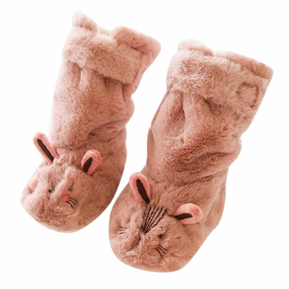 เด็กวัยหัดเดินในร่มถุงเท้าเด็กแรกเกิดถุงเท้าเด็กฤดูหนาวเด็กทารกเด็กหญิงการ์ตูนสัตว์หนา Anti-SLIP ถุงเท้ารองเท้าแตะ # F84