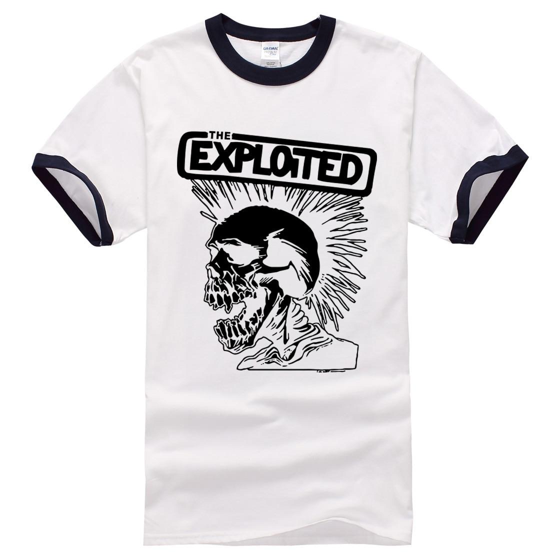 bbbe816cf0093 La exploited imprimir hombres camisetas cráneo punky marca de manga corta  2017 verano hombres camiseta Harajuku Swag camisetas ropa masculina