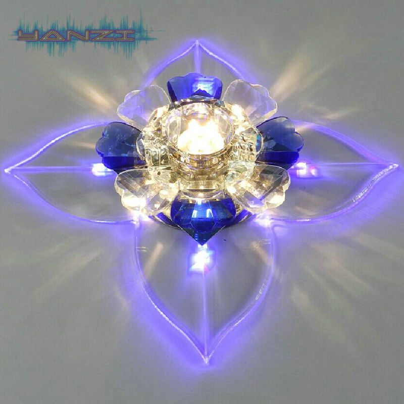Modern Fashion 3W LED Crystal Lamp Ceiling Light Aisle Lights Entrance Hallway Living Room Ceiling Lamp