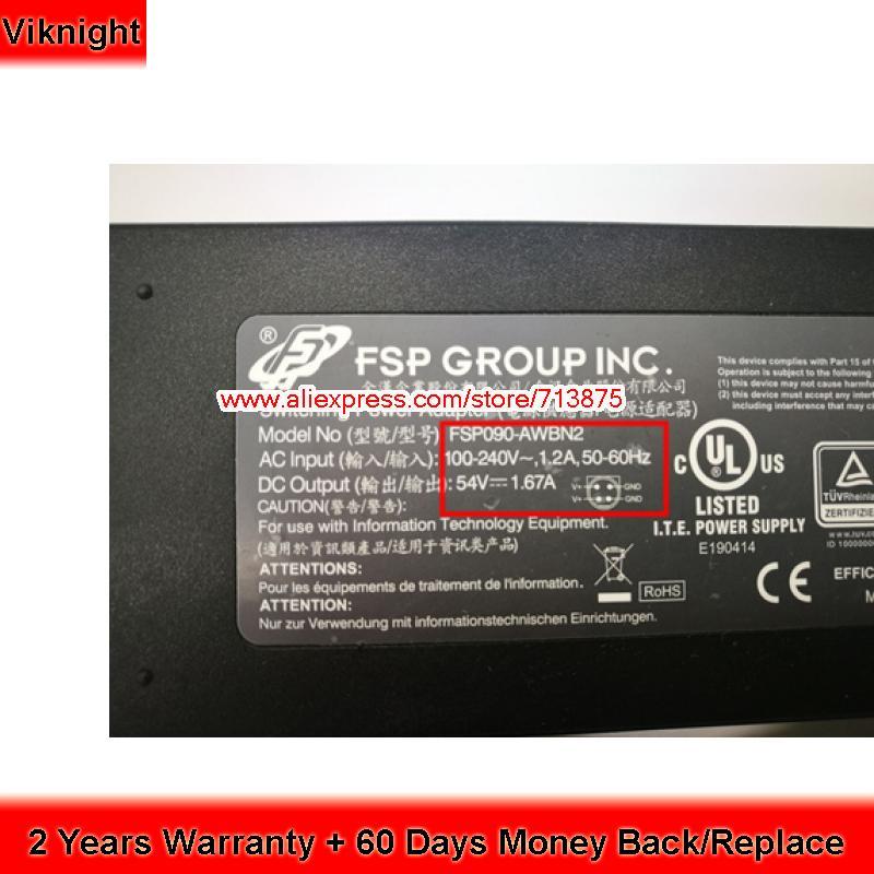 Genuine FSP AC Adapter 54V 1.67A FSP090-DMBC1 For Zyxel GS1900-8HP SG300-10PP sg300 10 srw2008 k9 g5