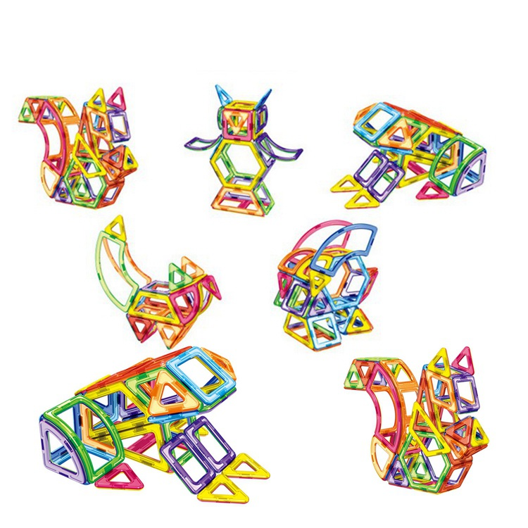 89Pcs Animal Diy Magnetic Building Blocks Magnetic Construction Blocks Toys For Kids 3d Magnetic Designer Educational Bricks diy 3d magnetic toys 34pcs building toy silicone magnetic blocks educational toys for kids gift magnetic building strips