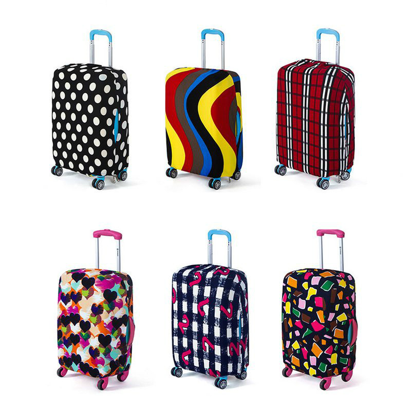 Travel Elastic Luggage Protective Cover For 18 To30 Inch Cases Suitcase Trolley Dust Protective Case Cover Travel Accessories