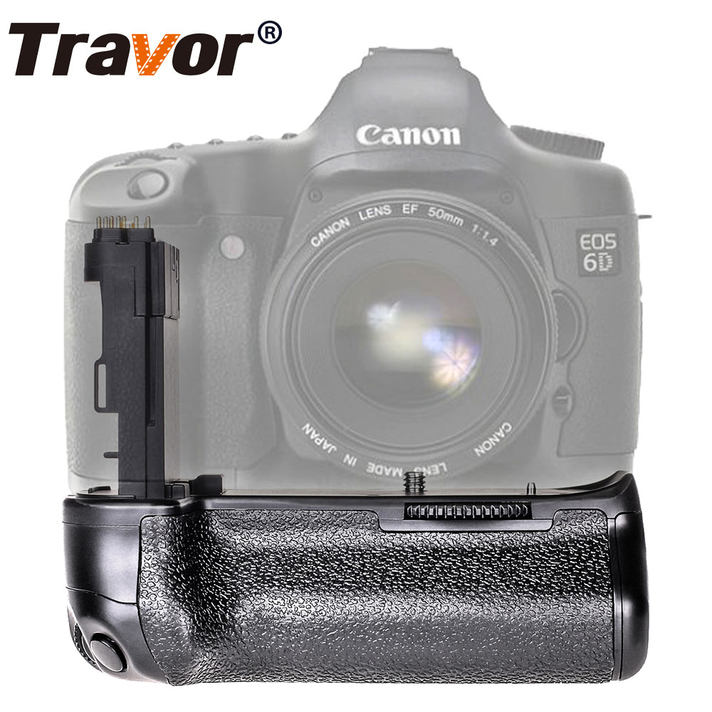 Travor Camera Vertical Battery Grip Holder For Canon 6D DSLR Camera Replacement BG-E13 Work With LP-E6 Battery travor bg 3b replacement battery grip for sony a77 a77v