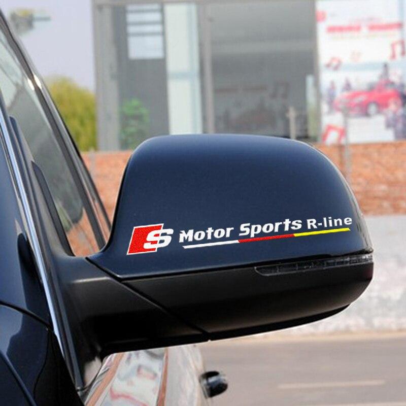 Moteur sport R-ligne voiture de coiffure, réfléchissant automobile rétroviseur décor autocollants et décalcomanies pour AUDI A4/A3/A6 et ainsi de suite