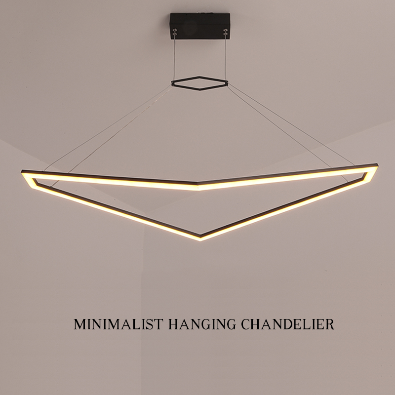 NEO Gleam RC+DImmable NEW Ideal Chandelier For Living Room Dining Room Kitchen Matte Black or White Finish Home Chandeliers|Chandeliers| |  - title=