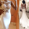 Африканский Свадебные Платья Иллюзия See Through Свадебные Платья 2017 Sexy Русалка Vestido Де Noivas Сшитое из Китая