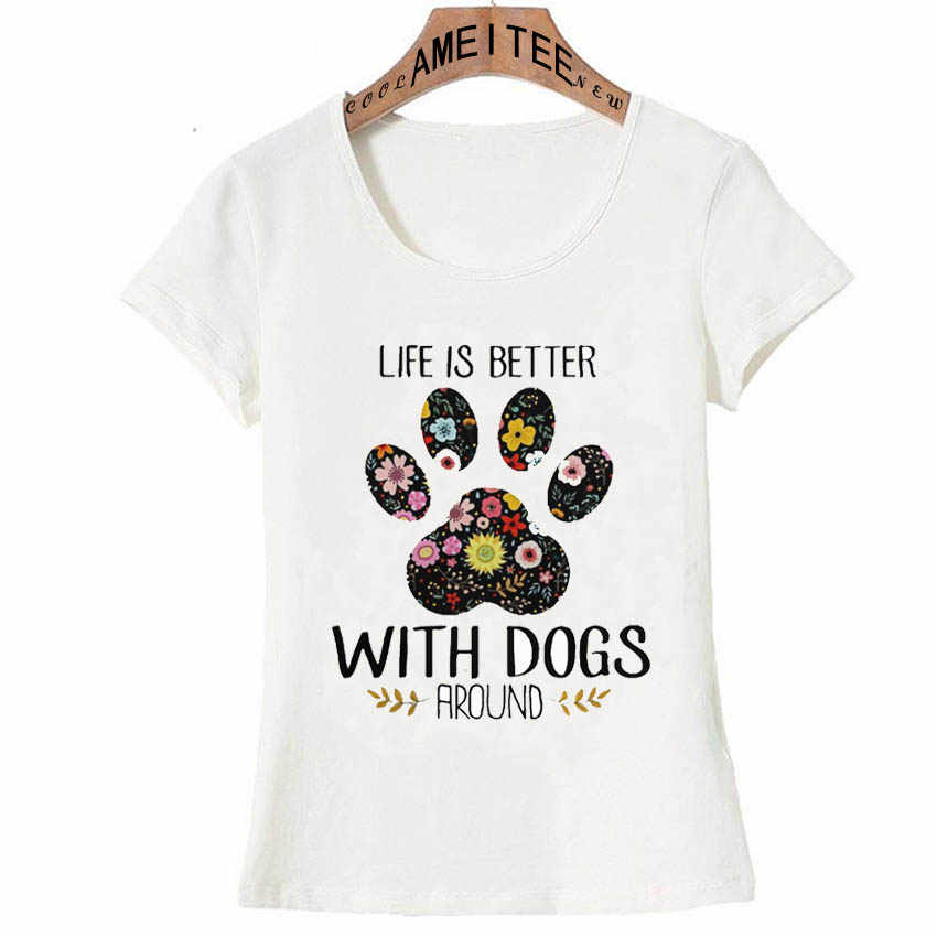 犬と生命が優れている設計夏 Tシャツの女性は Tシャツ女性ヒップホップ Tシャツ Camisetas mujer 2018