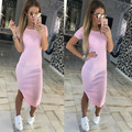 Casual Summer Women Dress Short Sleeve Round Neck Slim Fit Bodycon Dress Side Split T Shirt 2017 Striped Dress Vestidos X0184