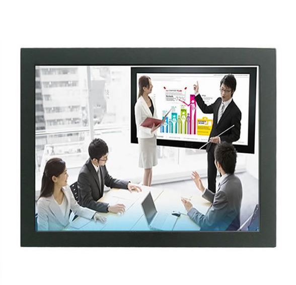 XintaiTouch 24 polegada Open Frame LCD industrial Monitor VGA/interface DVI, Ultra Slim SAW Toque Monitor Frame Aberto