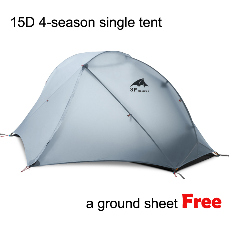 3F Piaoyun1 Single 15D Ultra light Seam sealed 2 layer 4 season Silicon Coating Camping Tent