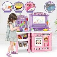 Развивающие игрушки Детская кухня с миниатюрными еда Притворись Играть кухней, игрушечной посудой пищевой Игрушки для девочек кухня для де