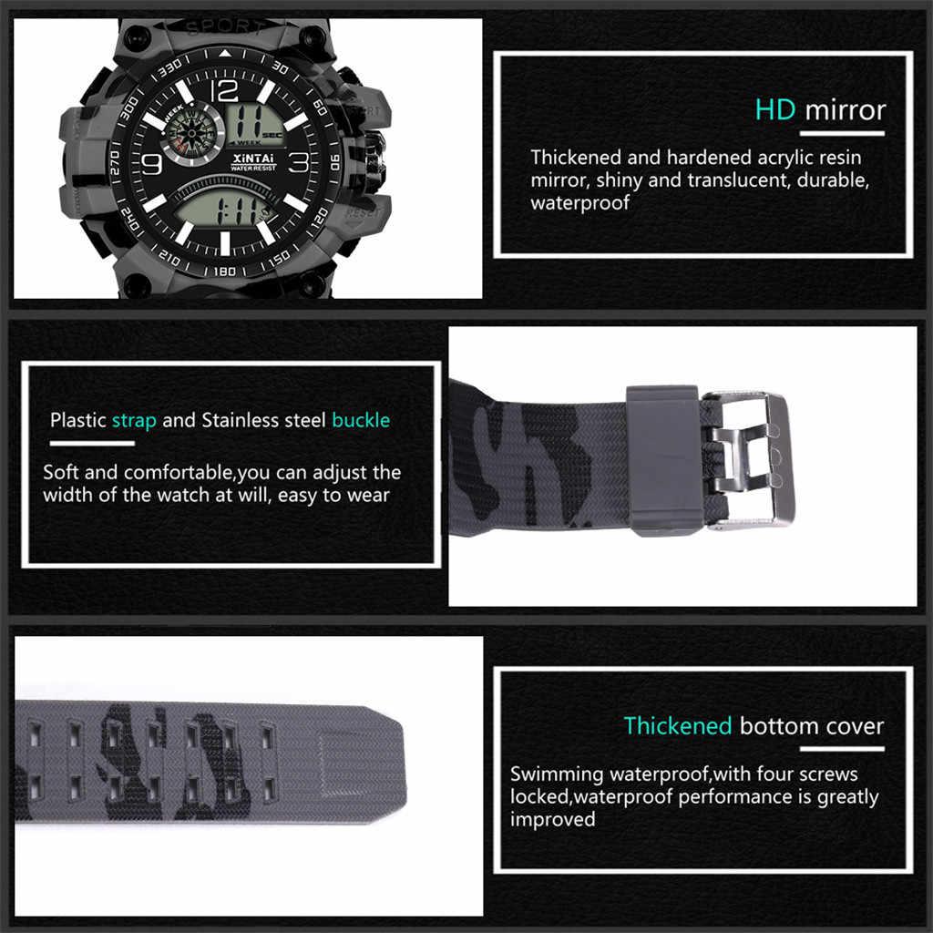 Fashion High-End Multi-Fungsi 30M Olahraga Tahan Air Elektronik Watch Digital Watch Fashion GIF Jam Tangan Pria olahraga Luar Ruangan