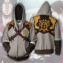 Castlevania: Lords of Shadow Costumes Gabriel Belmont Sweatshirt Cosplay 2018 Fashionable young boy hooded zippered sweatshirt