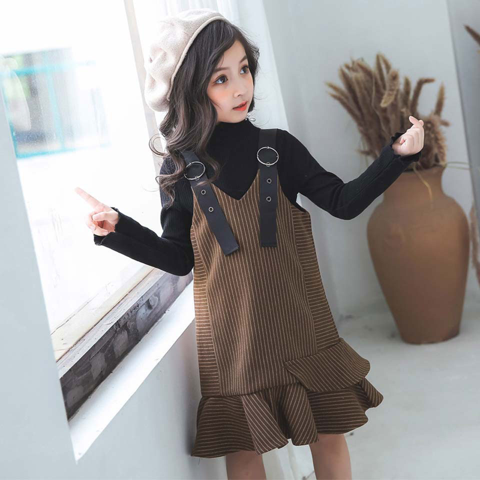 New Fashion Girls Clothing Set Top + Dress 2pcs For Baby Girls Clothes Children Suits Kids Autumn Knitted OuterwearNew Fashion Girls Clothing Set Top + Dress 2pcs For Baby Girls Clothes Children Suits Kids Autumn Knitted Outerwear