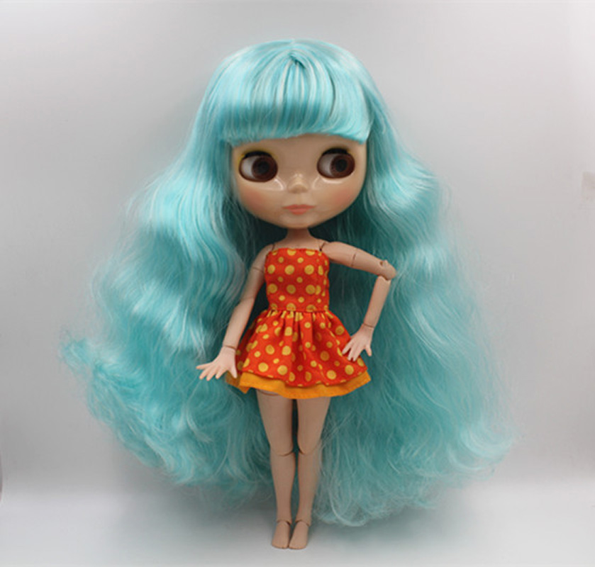 Free Shipping BJD joint RBL-355J DIY Nude Blyth doll birthday gift for girl 4 colour big eyes dolls with beautiful Hair cute toy luodoll bjd doll sd doll 1 4 girl luts hodoo bjd doll gift free eyes free make up