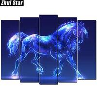 Zhui Star Full Square Drill 5D DIY Diamond Painting Crystal Horse Handmade 3D Embroidery Arts Cross