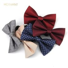 Fashion men's and women's solid color wedding groom groomsmen evening wear Korean flower core bow tie bow skinny