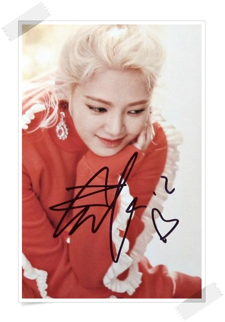 SNSD Kim Hyo Yeon autographed signed original photo 4*6 inches collection new korean  freeshipping 02.2017 01