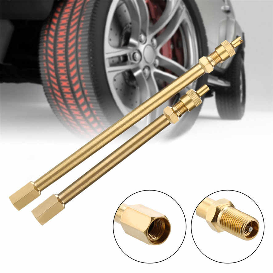 New CARPRIE 1PC Brass Tire    Stem Extension Pole Caps Extender For Car Auto Truck Motorcycle High Quality 30