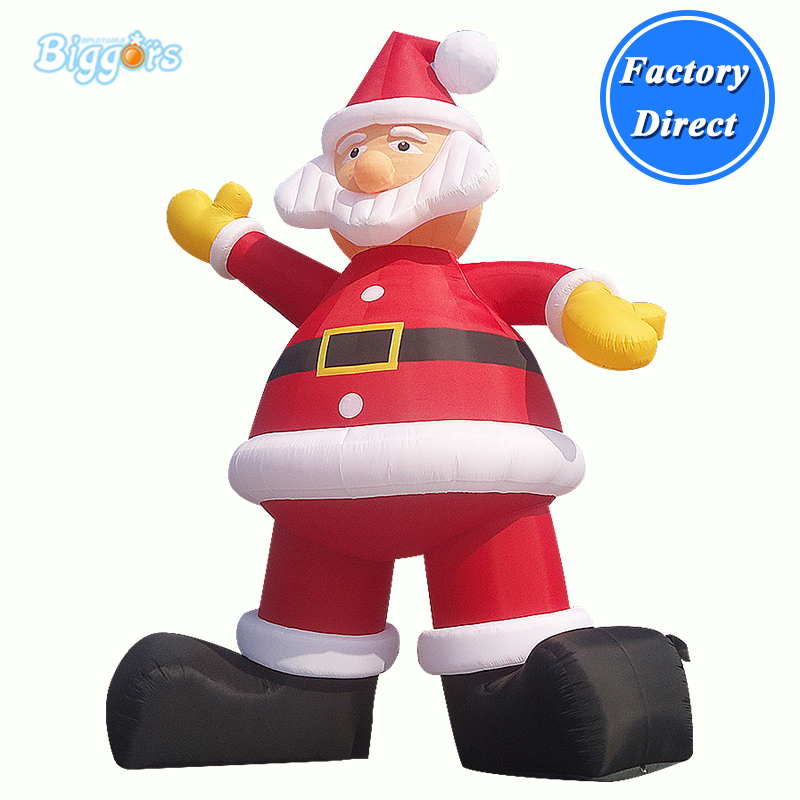 Outdoor Commercial grade inflatable Christmas decorations blow up Santa Claus inflatable father christmas inflatable characters christmas decorations store display santa claus 6 m high classic type