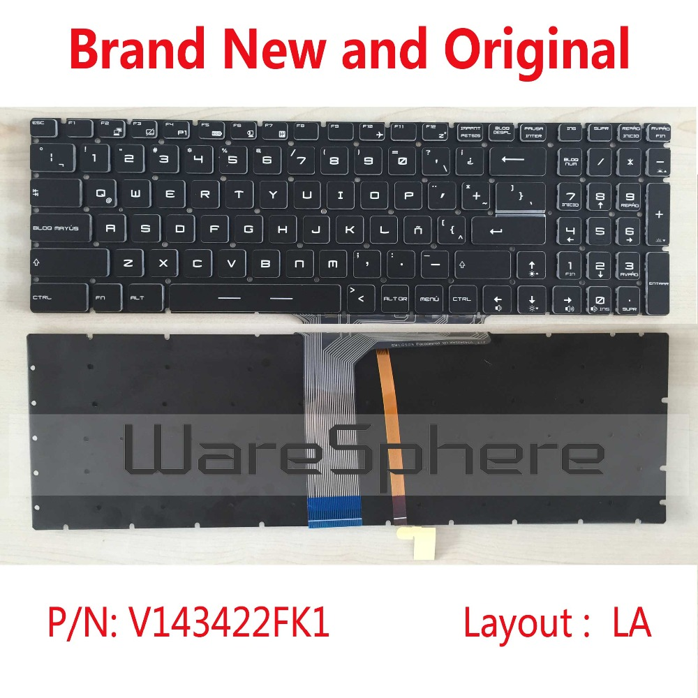 Image 4 - Original Latin Colorful Backlit Keyboard For MSI GE72 GE62 WS60 GS60 GS70 GT72 GP62 GP72 GT73VR V143422FK1 S1N 3E00211 SA0 LA-in Replacement Keyboards from Computer & Office on