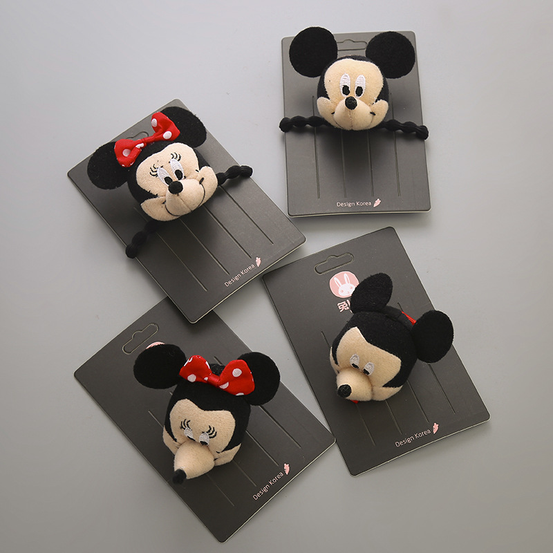 1 PCS Plush Bowknot Small Mouse Hairpins Children Headdress Girls Hair Clips   Headwear   Baby Hair Accessories