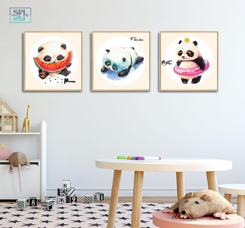 SPLSPL Nordic Minimalist Cute Panda Print Art