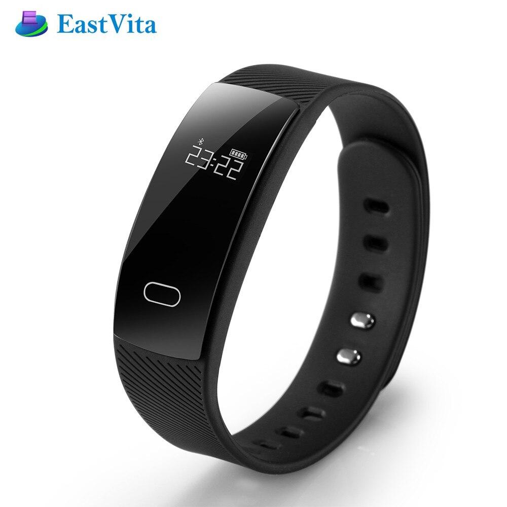 EastVita QS80 Smart Band Wristband Bracelet Blood Pressure Heart Rate Sedentary Reminder Sleep Monitoring for IOS