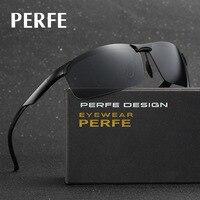 PERFE Sport Occhiali Da Sole Polarizzati Uomini Del Progettista di Marca Bike Corsa di Sport Esterno Polaroid Occhiali Da Sole Nero Cornice Oculos De Sol