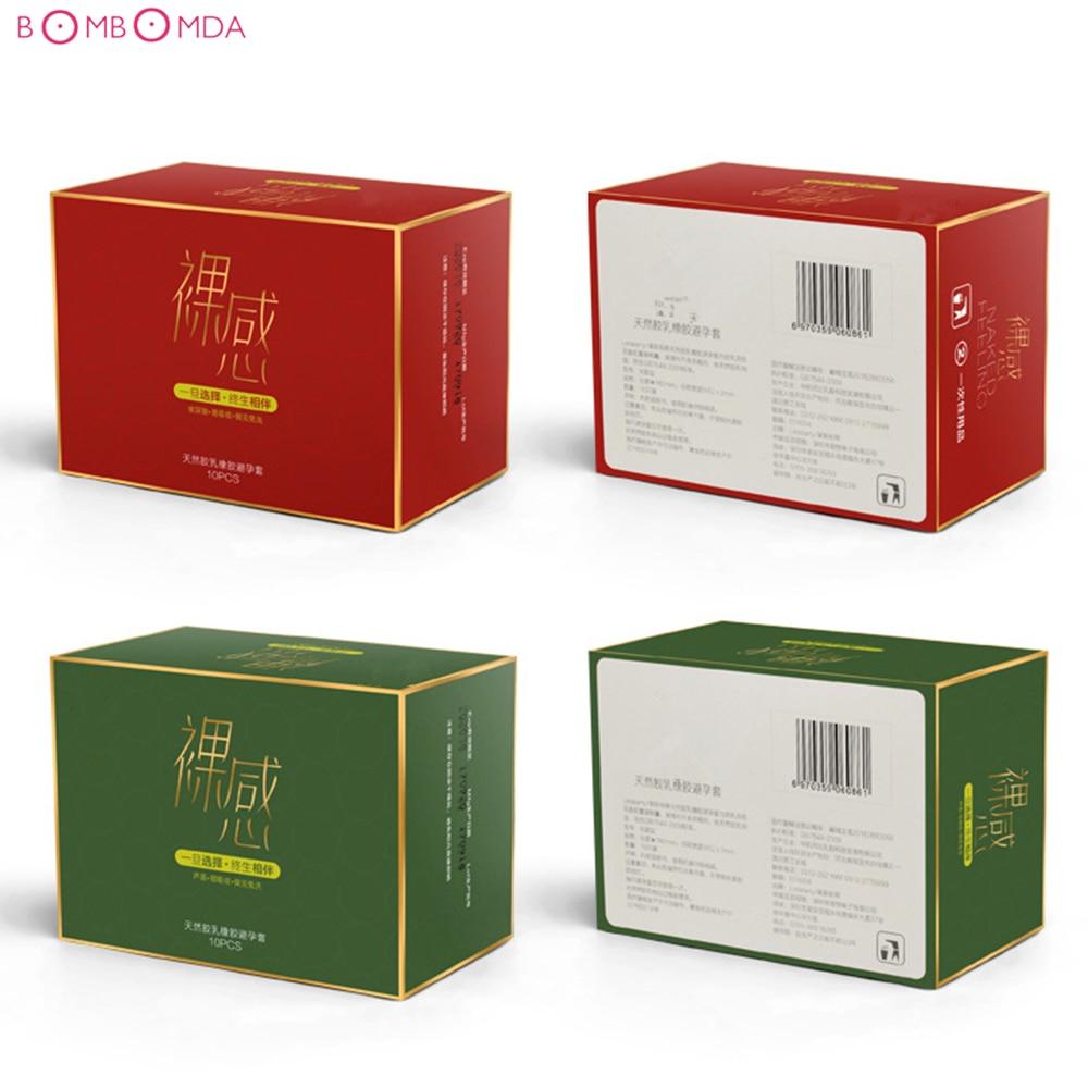 Sexprodukte Sex Kondome 10 Teile/los Ultra Dünne Natürliche Latex Kondome Penis Hahn-hülse Sicherer Empfängnisverhütung Sex Spielzeug Für Männer Angedeutet Waren