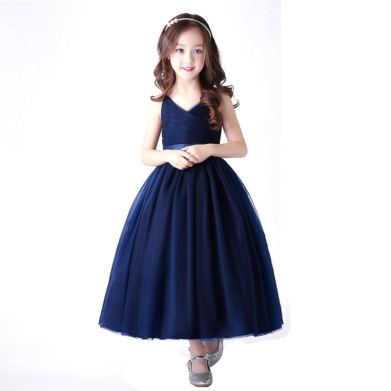 Kids Girls Dresses Wedding Party Costume Big Girls Formal Occasion Prom Bridesmaid Event Dress DQ822 kids fashion 2018 wedding event child