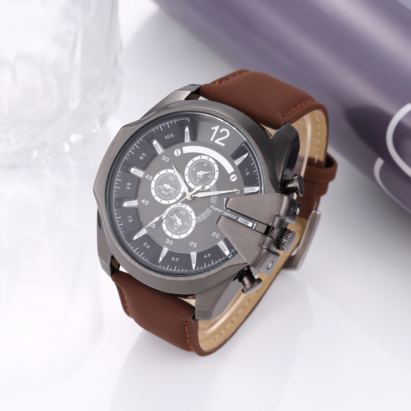 Watch Men Watch Fashion Military Sport Watches Top Brand Leather Strap Men's Watch Clock saat relogio masculino montre homme fashion men watch luxury brand quartz clock leather belts wristwatch cheap watches erkek saat montre homme relogio masculino