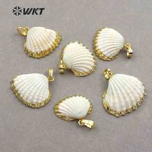 Wt jp017 оптовая продажа модный белый гребешок с золотой отделкой